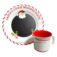 Ensemble de vaisselle Melamine Santa avec 2PCS (TZ6322)