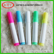 Vivid colors ink chunk shape non-toxic rainbow chalk marker