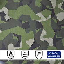 Coton polyester désert realtree militaire camouflage anti feu tissu en gros