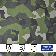 cotton polyester desert realtree military camouflage anti fire fabric wholesale