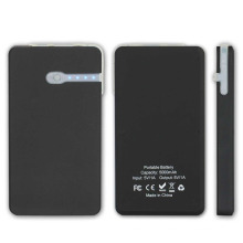 5000mAh smart phone charger solar power bank waterproof battery