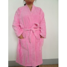 robe de velours 100 % coton kimono col