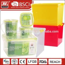 Recipiente de armazenamento de comida de plástico hermético 450ML com anel de vedação