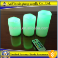 3 Pieces Amber Flickering Flame Light LED Candles