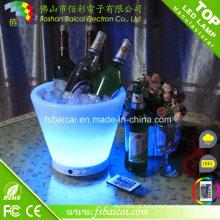 Baldes de gelo LED com controle remoto Champage Balde de LED para vinho