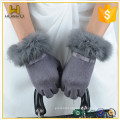 Cheap hot sell Womens Touch screen Gloves with rabbit fur ladies wool Gloves