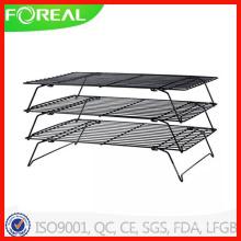 3-Tiers Nifty Home Metal Wire Withford Grade de refrigeração não-stick