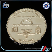 Glänzendes silbernes Ende zwei Pfund-Münze
