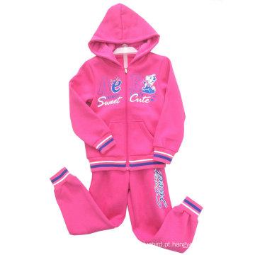 Hoodies da camisola do terno da trilha da forma do lazer na roupa das crianças para o desgaste Swg-124 do esporte