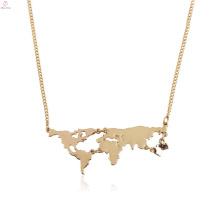 Personalisieren Sie Statement Map Anhänger Welt Halskette