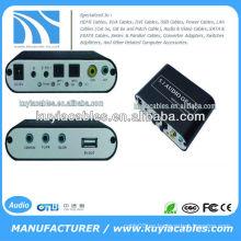 AC3 DTS Digital óptica de audio a 5.1 canales estéreo analógico decodificador RCA para PS3 AC112