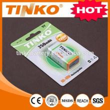 Batería recargable de NI-MH Tamaño 9v 250mah