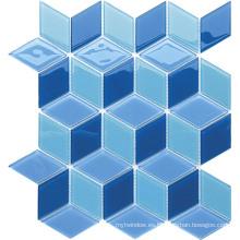 Mosaico de cristal de la serie de la forma de Specail para el cuarto de baño