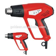 Doble manija 2000w poder arma caliente pistola de plástico de soldadura encogimiento de herramientas mini pistola de calefacción eléctrica