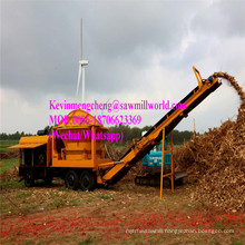 Mobile Diesel Enginetree Stump Wood Chipping Machine Branch Shredder