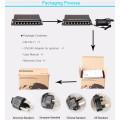 commutateur de haute qualité de poe de 8 ports pour les caméras d'IP / AP externe sans fil 12V8.3A, 24V4A