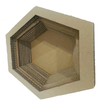 Lit de salon de chat Scratcher de papier hexagonal