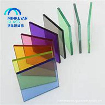 высокое качество безопасности дешевые цветные закаленное стекло
