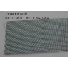Malla de alambre de tejido holandés de acero inoxidable en 24X110mesh