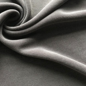 Cupro Vintage black soft modal polyester pique fabric