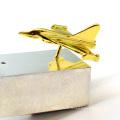 Échantillon gratuit souvenir commémoratif avion avion en acier inoxydable revers épinglette