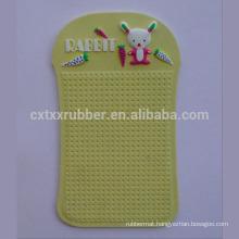 cute embossed cartoon car pad, easy clean car anti slip mat