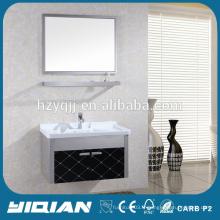 Cabinet de salle de bains en acier inoxydable miroir simple à vente chaude