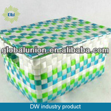 Eco-friendly Colorful Weaving Storage Basket