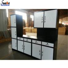 Armoires de cuisine modulaires métalliques bon marché fabriqués en Chine