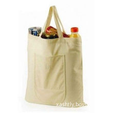 5 Oz Cotton Canvas Reusable Grocery Shopping Bags Customized Logo Printing