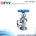 DIN Standard Cast Steel Angle Type Globe Valve