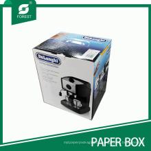 Caixa de empacotamento ondulada personalizada do preço competitivo para a máquina do café