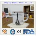 Enamel Sealed Tea Cup