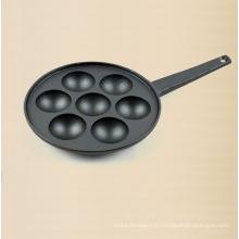 Plaque de cuisson préfabriquée en fonte 7PCS 20 cm