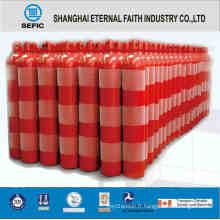 Cylindre de gaz de CO2 d'acier sans couture de haute qualité