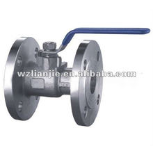 1PC de DN40 à brides PN16 de robinet à tournant sphérique en acier inoxydable se termine