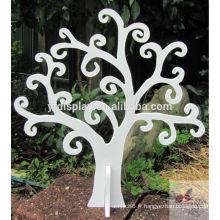 Décoration d'arbre de MDF de couleur blanche
