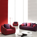 Solid Wood Fabric Upholstery Sectional Sofa Set