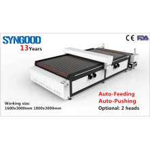 Máquina de grabado láser de rollo a rollo de cabeza gemela Syngood 1300X2500mm 1500x3000mm 1800x1200mm 1800x3000mm