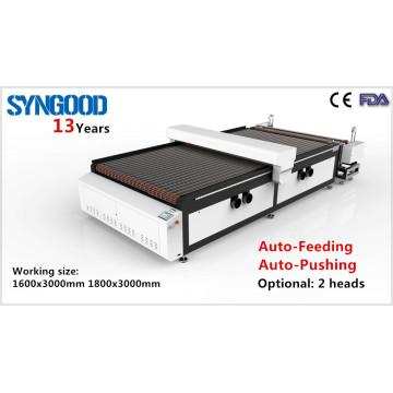 Двухголовочная рулонная машина для лазерной гравировки Syngood 1300X2500mm 1500x3000mm 1800x1200mm 1800x3000mm