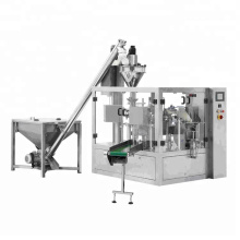 Automatic Rotary Powder Filling And Sealing Packing Machine For Coffee Sugar Milk With Auger Filler