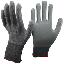 NMSAFETY nitrile cut resistance gloves coated grey micro-foam liner palm work glove en388