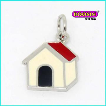New Fashion Custom Zinc Alloy Enamel Dog House Pendant Wholesale