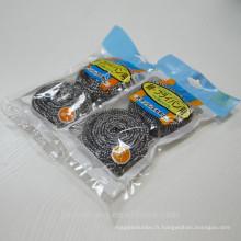 Nettoyage de la cuisine JML Faisceau en acier inoxydable / Scourer en fil d'acier inoxydable