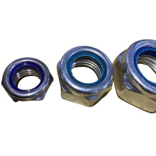 Hexagon Nylock lock Nuts M8 M10 Chinese Manufacturers Hex Nut Fastener Stainless Steel Factory Direct Suppilers
