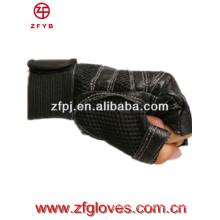 2016 novo produto homens fingreless luvas de couro