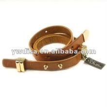 Cinturón de cuero de la vaca de la manera