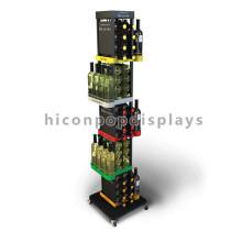 Bodenständer funktionale Einzelhandel Shop Joyshaker Wasserflaschen Großhandel Metall Soda Flasche Display Rack