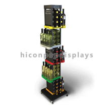 Floor Stand Functional Retail Shop Joyshaker Garrafas de água Atacado Metal Soda Bottle Display Rack