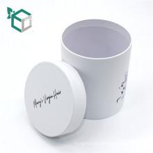 CMYK que imprime el papel de arte blanco de panton el empaquetado redondo de la caja del tubo de papel
